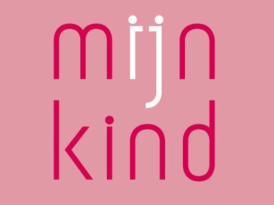 MIJN KIND typography font design typeface parents child graphic design my child mijn kind