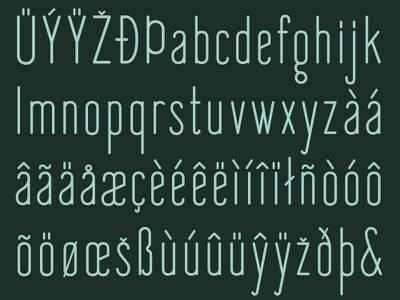'Fisher's Lair' Typeface Preview (Part 2) graphic design font design glyphs typeface