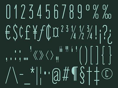 'Fisher's Lair' Typeface Preview (Parts 3 & 4) graphic design font design glyphs typeface