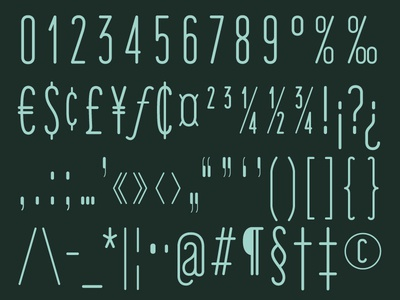 'Fisher's Lair' Typeface Preview (Parts 3 & 4)