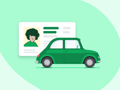 Driver Illustration concept ui car green design branding vector illustration instacart