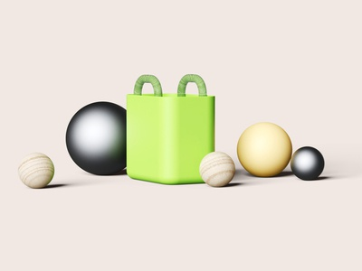 Composition 01 - Grocery Bag 3D Illustration