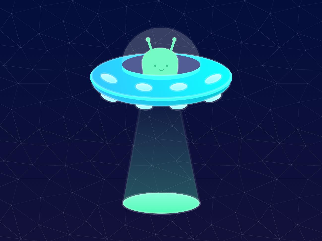 Alien ufo spaceship alien illustration illustrator adobe space stars sky vector galaxy