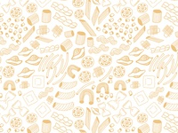 Hand Drawn Pasta Shapes