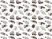 Sushi Pattern Design