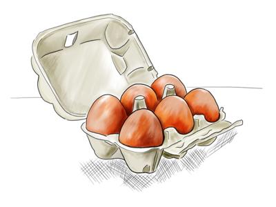 Fresh Eggs breakable inktober 2018 procreate food drawing food illustration illustration