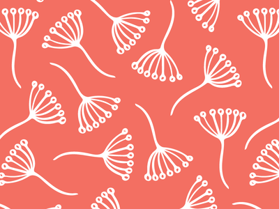 Pantone colour of the year Living Coral repeat pattern surface pattern pattern