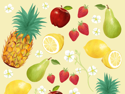Fruit Illustrations illustration fruit illustrated fruit illustrated food food food illustration