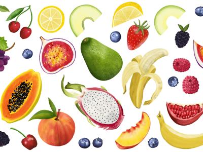 Fruit Salad recipe illustrations cook book digital art editorial illustration lifestyle healthy food food food illustrator food illustration
