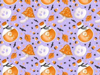 Halloween pattern background design vector illustration halloween pattern