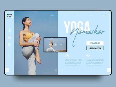 Yoga landing page ui namaskar yoga web vector design landing page landing
