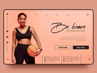Be brave. Basketball landing page sports sport baseball landing page vector ux landing ui web design