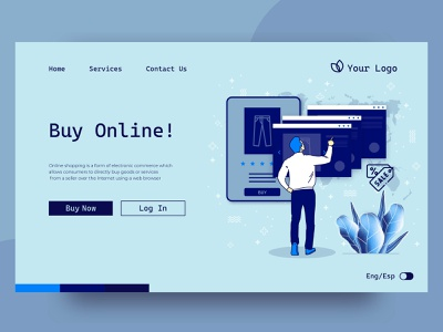 Shopping online landing page online marketing online shop online shopping mobile ux landing page landing ui web illustration vector design