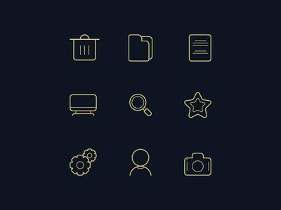 Monoline Icon Design (File Manager Icon)