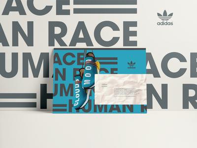Adidas Human Race ADV design poster design poster pharrell typography adv human race adidas