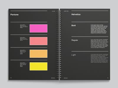 Manual helvetica a4 editorial design design brand manual brand manual logo logobook