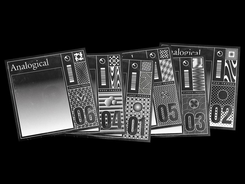 Analogical Tracks visual design visual playlist analogical design art noise branding illustrations collection jazz music rock music pop music art direction cover music artworks artwork