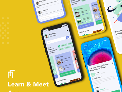 Learn & Meet App ios app uiuxdesign event