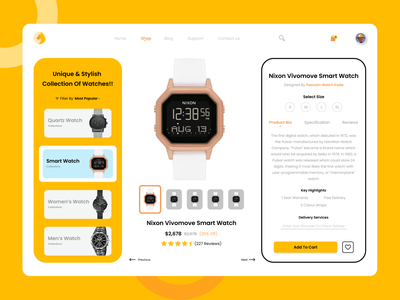 Watch E-commerce ui watch e commerce web deisgn uiuxdesign design