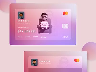 Glassmorphism UI ui card payment credit card debit card uiux glassmorphism uidesign