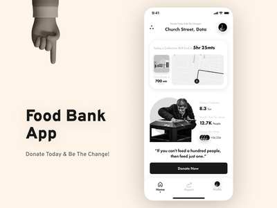 Food Bank App ngo donation food app ios app design ui design