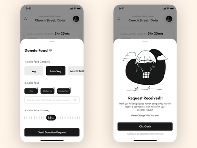 Food Bank-2 ngo food app ui ios app design uidesign