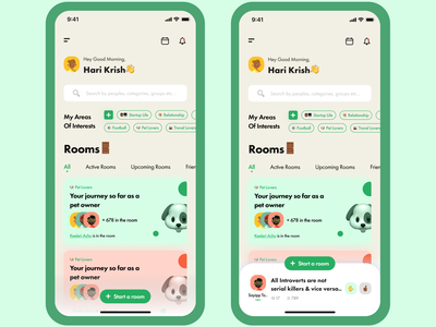 Clubhouse App Redesign chat app app design clubhouse social app uiuxdesign ui design ui design