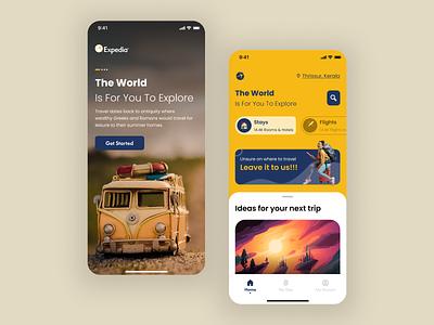 Expedia Redesign-I design app ui expedia ios app uiuxdesign ui design travel app ui