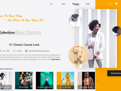 Precious design landing page e commerce web deisgn fashion uiuxdesign