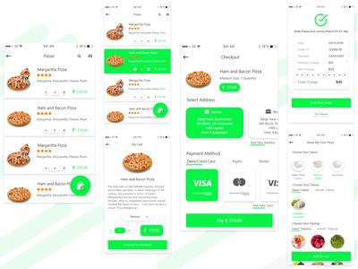 Pizza Booking App design uiuxdesign checkout food app ios pizza