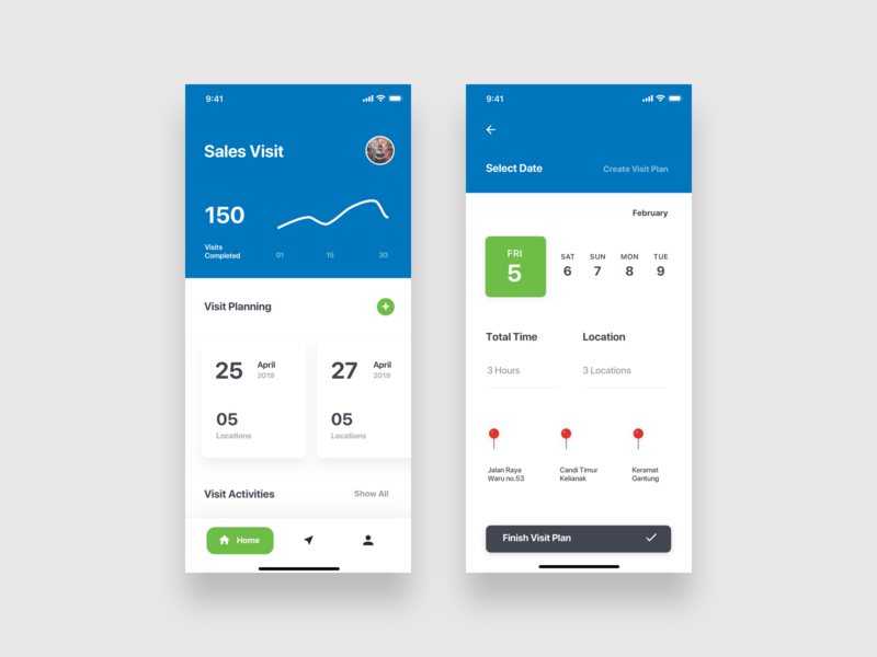 Sales Visit App mobile app design mobile app mobile app