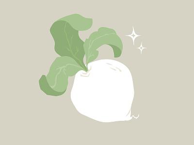 Turnip drawing art flat illustrator animal crossing vegetable root turnip illustration