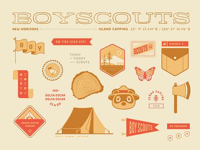 Boy Scouts branding badge scouts nintendo flat illustrator illustration animal crossing