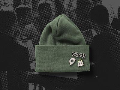 Cove Youth Hostel Merchandise logo house hotel hostel merchandise hat beanie enamel pin badge pin enamel