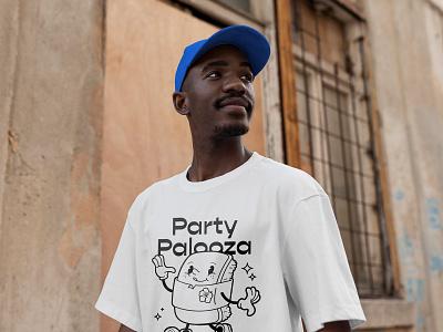Party Palooza cartoon spam musubi hawaii character graphic design art vancouver vector illustrator illustration