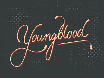 Youngblood handletter pen calligraphy lyrics wordmark handlettering type typography