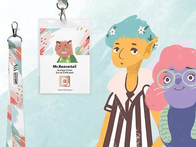 Inner Child exhibit design story children character tag lanyard exhibit procreate illustration