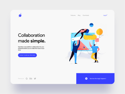Collaboration Platform Landing Page