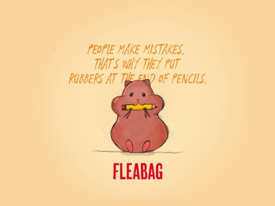 Fleabag yellow brown sketching cute animal cute pencil illustration fleabag hamster