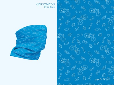Pattern Illustration | Cycle Blue | for Carbonado headwear bandana seamless gear cycle pattern apparel blue illustration