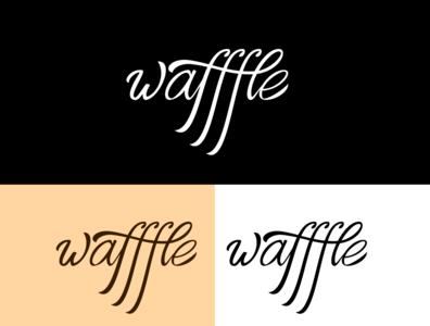 wafffle logo script