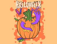Halloween Doodle Illustrationg