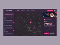 Party Finder App colours webapp design webapp ui modern www design web