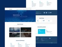 Aquapool 🏊🏻♀️ blue clean colours website ui modern www design web