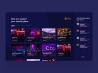 Party Help app design webapp concept blue app colours ui modern design web