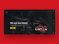 Manchester United Website Concept