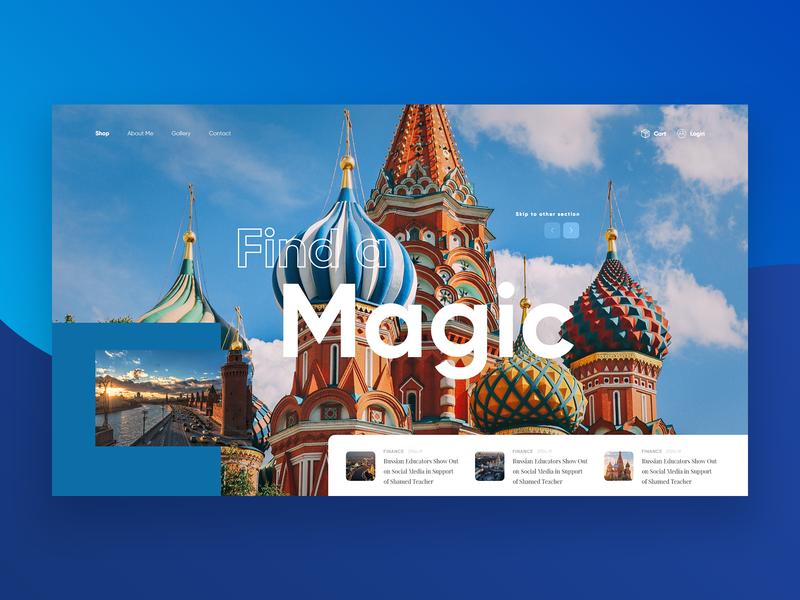 Moscow   Find A Magic | Concept clean blue concept ui modern colours design www website web