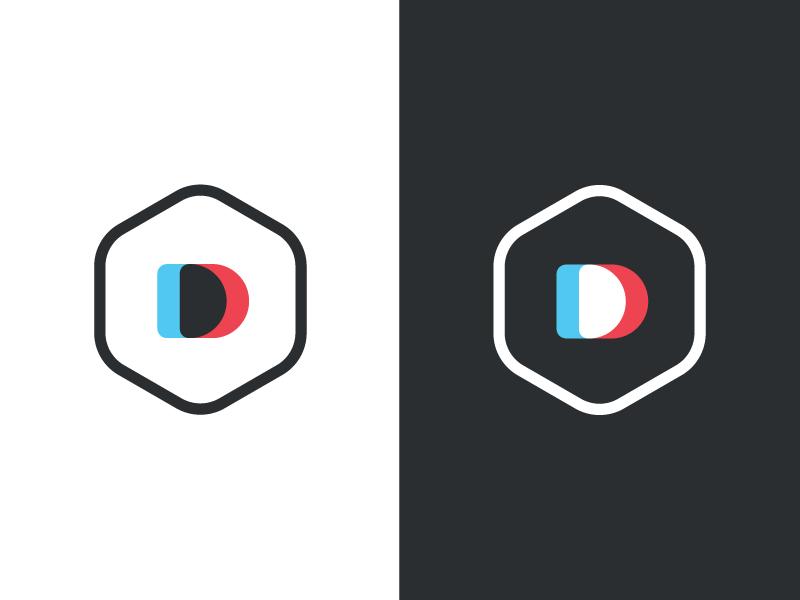 New Double Dip Identity monogram personal badge emblem branding identity logo