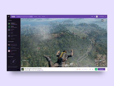Twitch Desktop Site (Exercise Only)