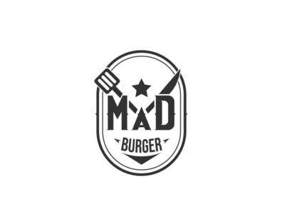 Mad Burger Logo Design vector typography colors logo minimal illustration